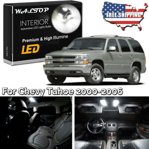 20pc White Led Interior Lights Package Kit For 2000 2004 2005 2006 Chevy Tahoe