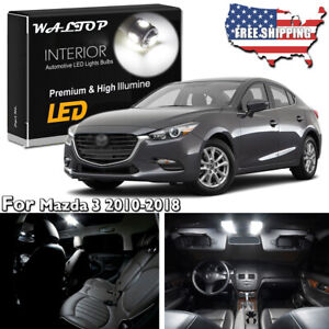 9pc White Led Interior Light Package Kit For Mazda 3 Sedan 2010 2018 Tool Us