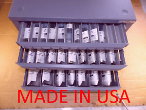 Viking 16020 Letter Drill Set a z With Huot 13050 Cabinet 72 Drills Usa