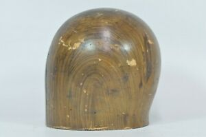 Size 21 1 2 Wooden Hat Block Mold Form Millinery Head Style Form Display
