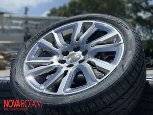 2019 Chevy Silverado Tahoe Suburban Wheels 22 Rims Tires 8404080 1500 Sew 5907
