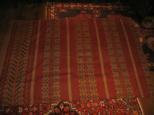 Antique C1890 1920 Tapestry Woven Fabric 65 X48 Fragment Panel Hemmed