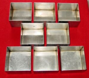 Culinaire Stainless Steel Bread Baking Pan Loaf Pan Sspan 03 Lot Of 8