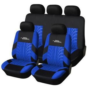9pcs Autoyouth Car Seat Cover Car Accessories Car Seat Cover Front And Rear Blue
