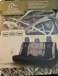 Ducks Unlimited Full Size Rear Bench Seat Cover Universal Camouflage Truck Suv