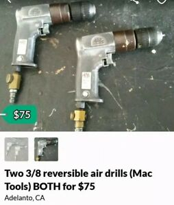 Two 3 8 Reversible Air Drill mac Tools