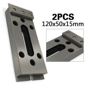 2pcs Jig Wire Edm Fixture Board Tool Stainless Clamping Leveling 120x50x15mm