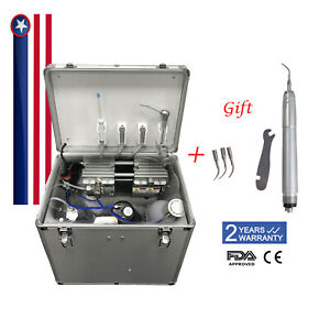 Dental Turbine Unit Rolling Delivery Cart Air Compressor suction System Usps