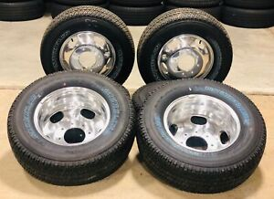 Set 6 New Takeoff Ford F350 Dually 17 Polished Wheels Owl Michelin Tires Lugs