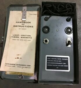 Military Surplus Light Ignition Timing Magneto Auto Marine Instruments Corp
