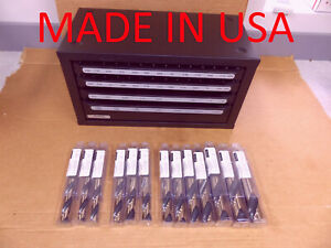 Viking 92402 Silver And Deming Drill Set 13 Drills With Huot Cabinet