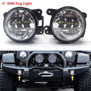 2x 4 5 Led Auxiliary Passing Fog Lights Waterproof Universal For Jeep Jk Dodge