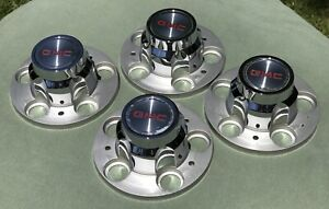 Vintage Gmc Gm Chevy 73 80 81 87 Truck Rally Wheel 5 Lug Center Caps Old Stock