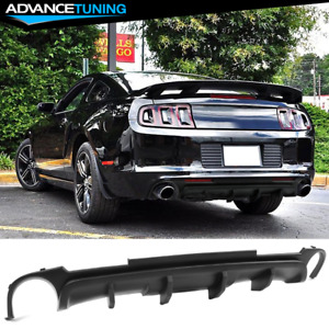 Fits 13 14 Ford Mustang California V2 Style Rear Lower Bumper Lip Diffuser Pp