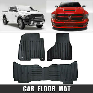 Rear And Front Liners Floor Mats Fit 2009 18 Dodge Ram 1500 2500 3500 Black New