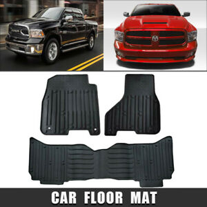 rear And Front liners Floor Mats For 2009 2018 Dodge Ram 1500 2500 3500