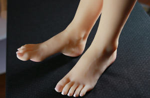 16 Year Old Girl Foot 1pair Silicone Simulation Foot Display Model Eur36 Zsell