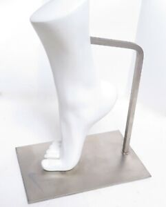 Nike Shoe Sandal Store Display Woman Crew Right Foot Form Mannequin Metal Stand