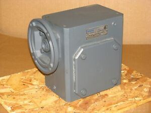 New Sterling Electric Worm Gear Speed Reducer 325bq050142 50 1 Ratio