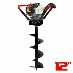 55cc 2 Stroke V type Gas Post Hole Digger One Man Auger Epa digger And 12 bit