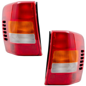 Pair Tail Lights For 99 02 Jeep Grand Cherokee Tail Lamps Set W Circuit Boards