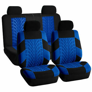 Luxury Sport Car Seat Cover Set Front Rear Blue For Car Truck Suv
