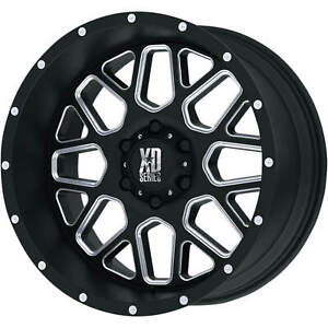 4 20x10 Black Milled Xd Xd820 6x5 5 24 Rims Terra Grappler G2 305 50r20 Tires