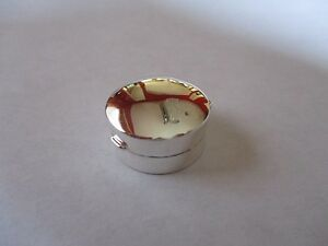 Sterling Silver Pill Box Round 925 Solid Silver 3 4 Inches Round Hallmarked