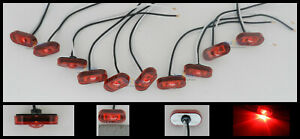 10 Red Marker Clearance Lights 1 Led 1 1 2 X 3 4 Mcl299rb Adhesive Back