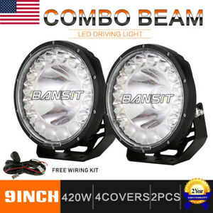 Bansit 9 Inch Led Driving Lights Cree Spotlight Combo Beam Fog Lamp Off Road Ute