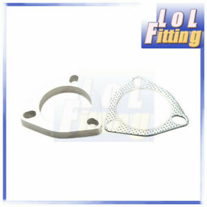 3 5 Vibrant Stainless Steel Exhaust Flange And Exhaust Gasket 3 Bolt Us Stock