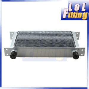 19 Row 10an Universal Aluminum Engine Transmission Oil Cooler Silver Us Stock