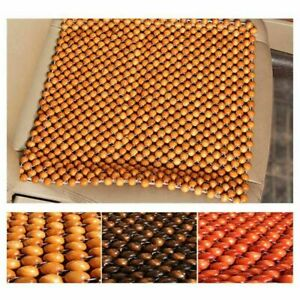 Summer Car Seat Cover Wooden Beads Massage Pad Chair Breathable Cushion 45 45cm