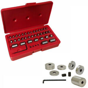Case 36 Pieces 57 60 Hrc Accuracy Hardened Steel Round Gage Space Blocks Gages