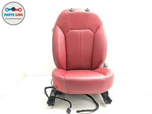 2017 2019 Alfa Romeo Giulia 952 Front Passenger Seat Red Leather W Buckle Oem