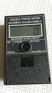 Edtm Digital Power Meter Incident Solar Energy sp1065 Btu hr ft2