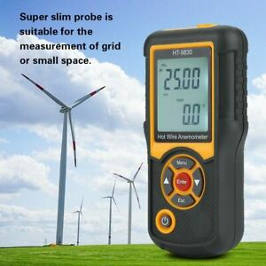 Ht 9830 Digital Anemometer Air Flow Wind Speed Meter Thermometer 0 1 25 0m s
