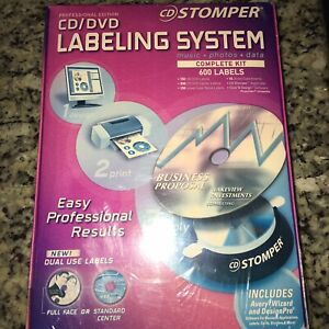 Cd Stomper Professional Edition Cd dvd Labeling 600 Labels System Complete Kit