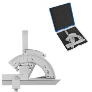 Universal Bevel Protractor Vernier Mitutoyo Machinist Angle Finder With Case