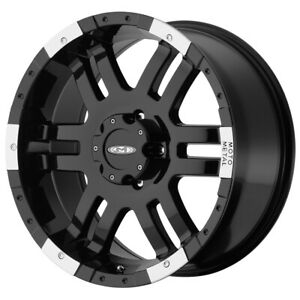Moto Metal Mo951 17x9 8x6 5 12mm Black Machined Wheel Rim 17 Inch