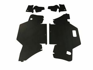 1963 Cadillac Convertible Trunk Side Panel Kit Double Black 4 Pcs