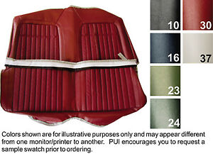 1969 Camaro Deluxe Comfortweave Vinyl Rear Folding Seat Cover 6 Colors Available