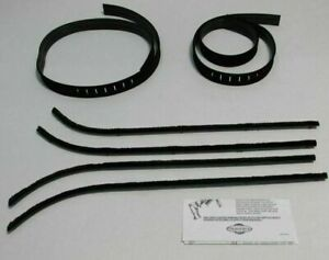 1964 1970 Chevy 2 Door Van Beltline Window Weatherstrip Kit 6 Pieces