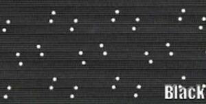 1967 69 Cuda Fastback 5 Bow Headliner Perforated Pattern Black Color