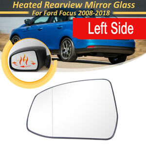 Driver Left Side Wing Mirror Glass Rearview Heated Fit For Ford Focus 2012 2014