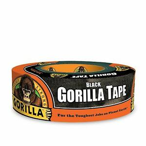 Gorilla Tape Black Duct Tape 1 88 X 35 Yd Black pack Of 1 Free Shipping