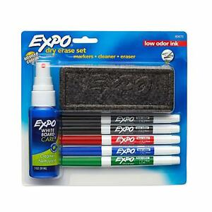 Expo 80675 Expo Low odor Dry Erase Set Fine Point Assorted Colors free Ship