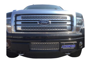 2011 2014 Ford F 150 Ecoboost Chrome Lower Bumper Grille Intercooler Protector