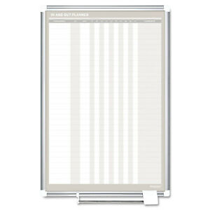 Mastervision In out Magnetic Dry Erase Board 24x36 Silver White