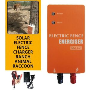 Electric Fence Charger Ranch Animal Raccoon Dog Sheep Horse Cattle Poultry Dc12v